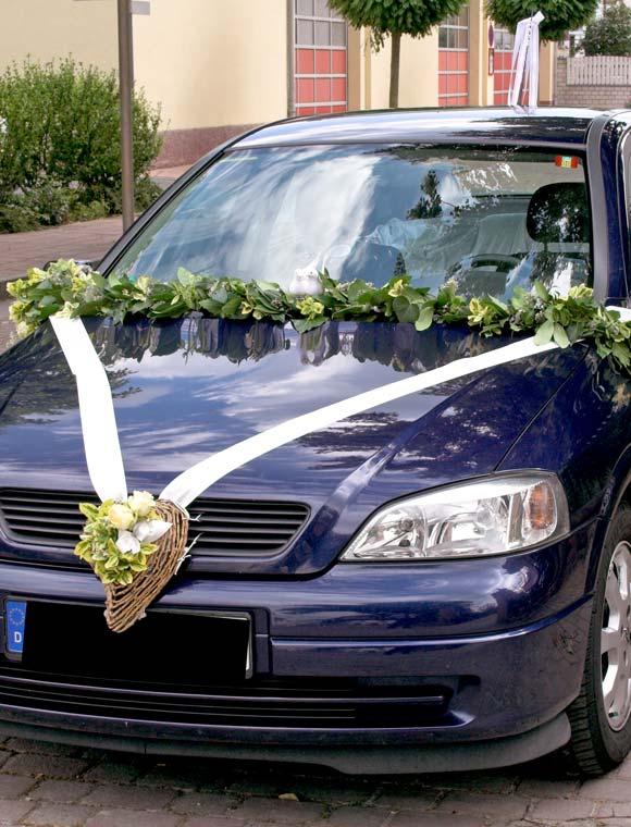 Hochzeit schmücken auto Autodeko Hochzeit